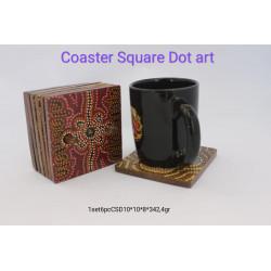 Coaster square dot art